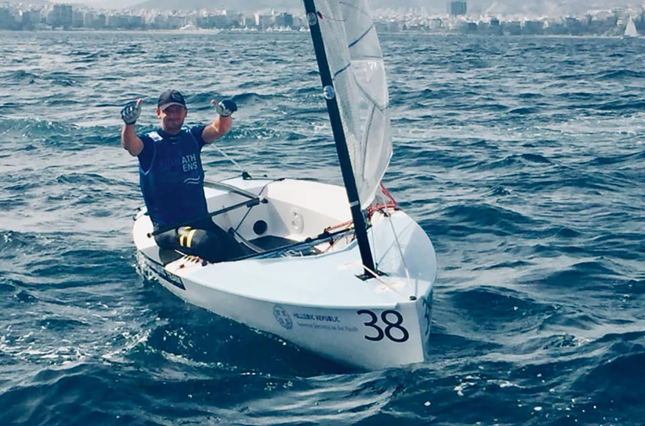 Giles Scott is the 2019 Finn European champion.