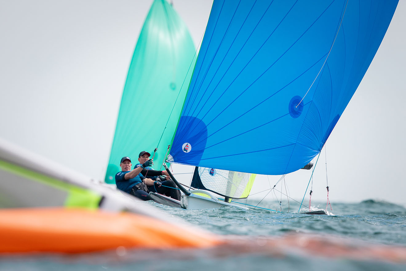 Fletcher and Bithell remain in 49er contention ©Nick Dempsey/RYA
