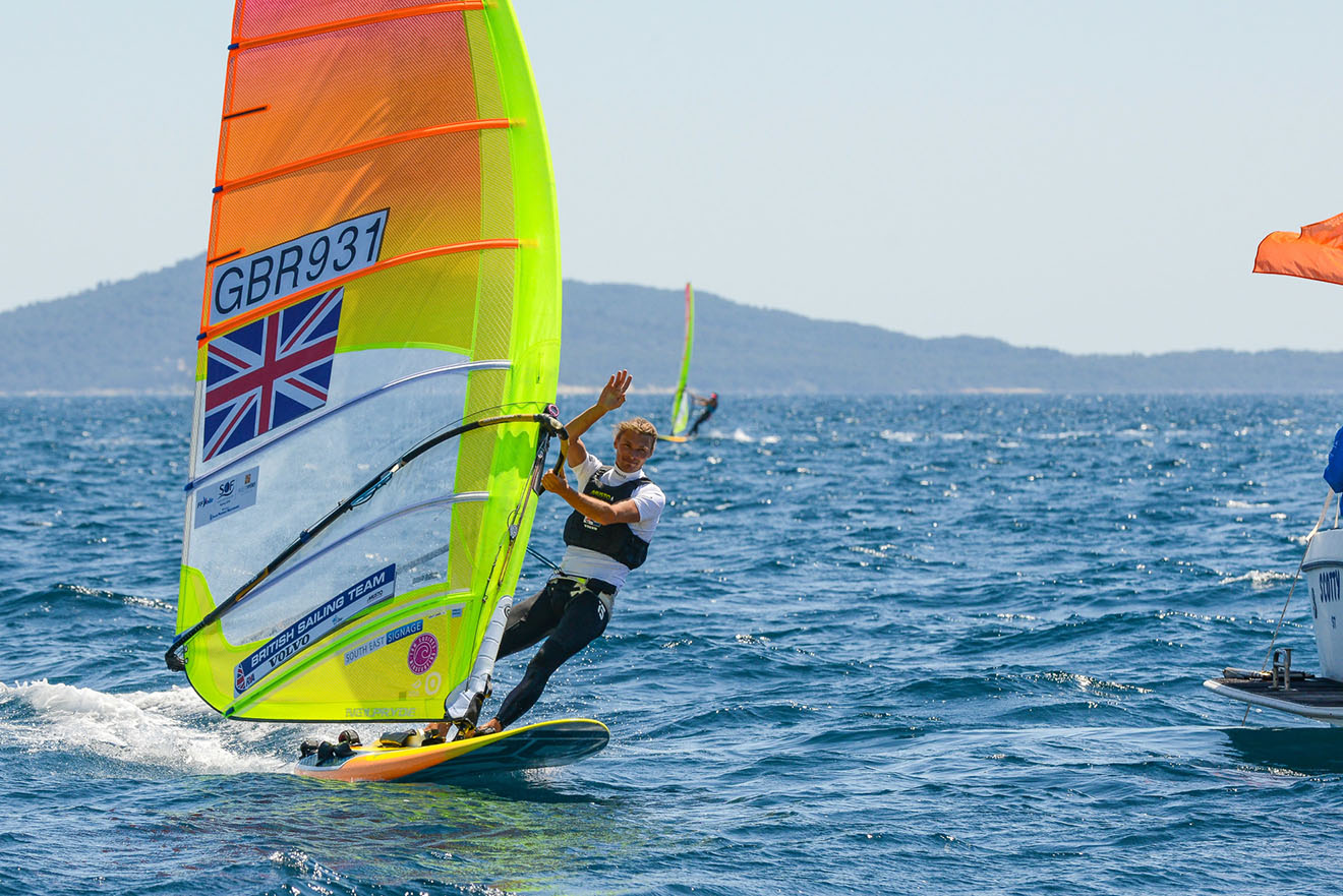 Tom Squires came 6th at French Olympic Week in Hyeres.
