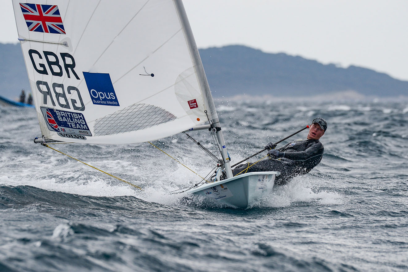 Elliot Hanson in action at French Olympic Week in Hyeres.