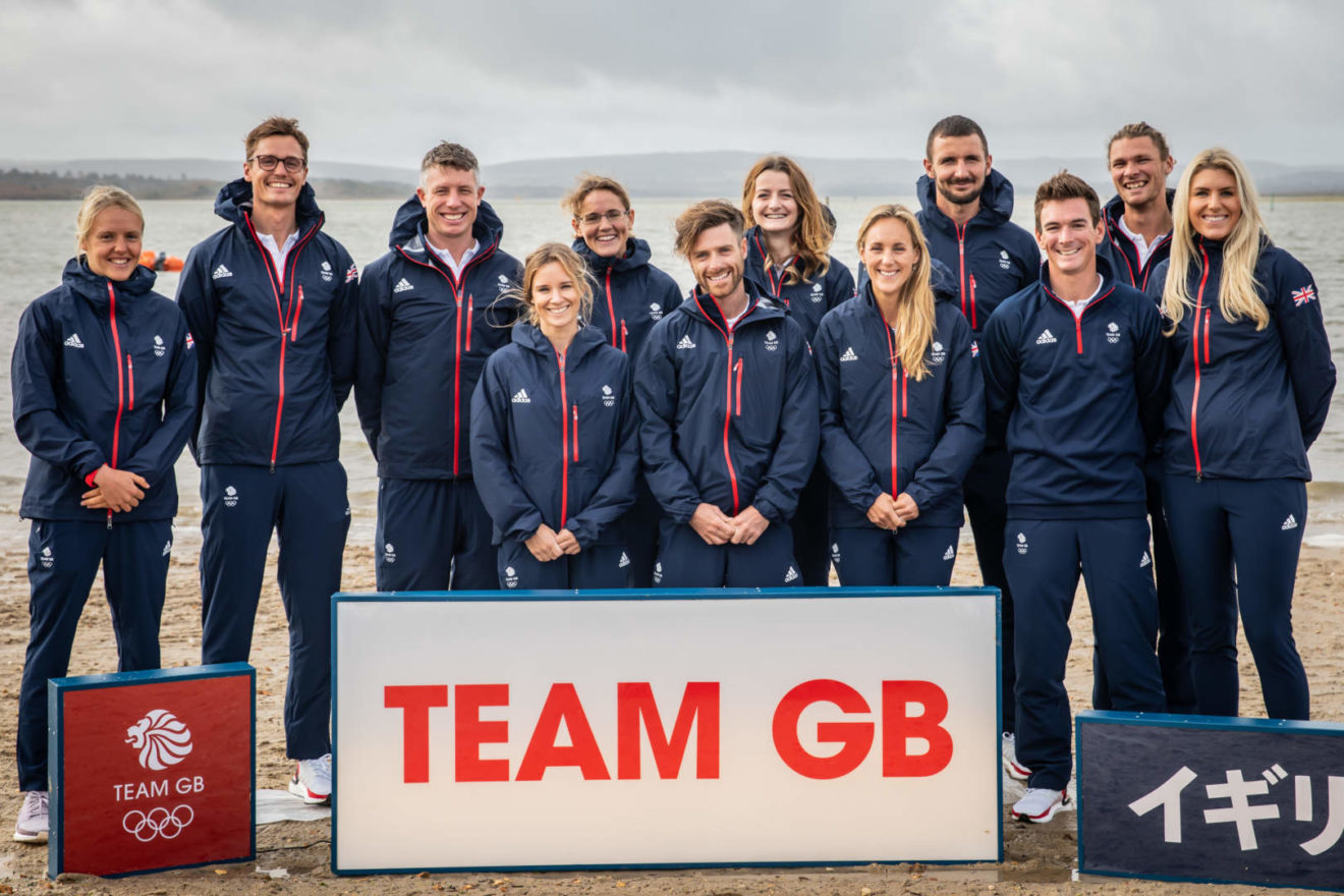 The twelve British sailors selected to represent Team GB at Tokyo 2020.