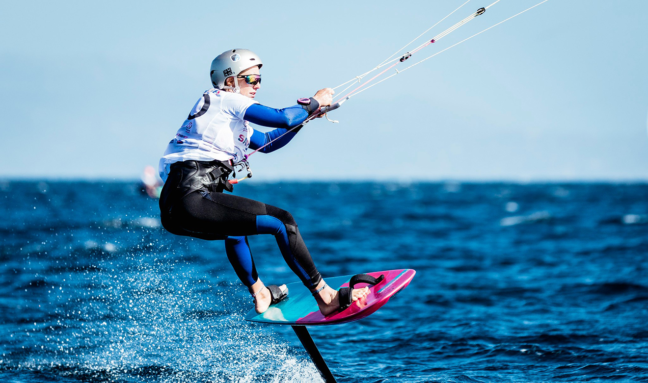 Ellie Aldridge in action at the Kitefoil Gold Cup round 4.