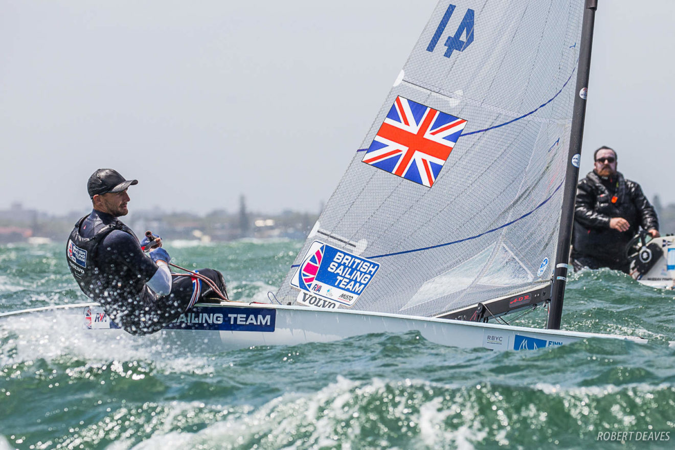 Giles Scott finished fourth at the 2019 Finn Gold Cup.