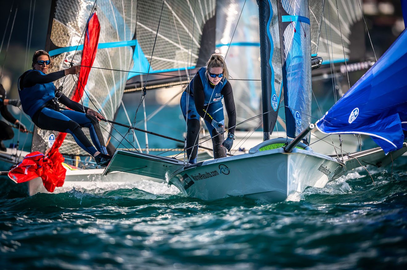 Megan Brickwood and Steph Orton finished 19th in the 49erFX fleet.