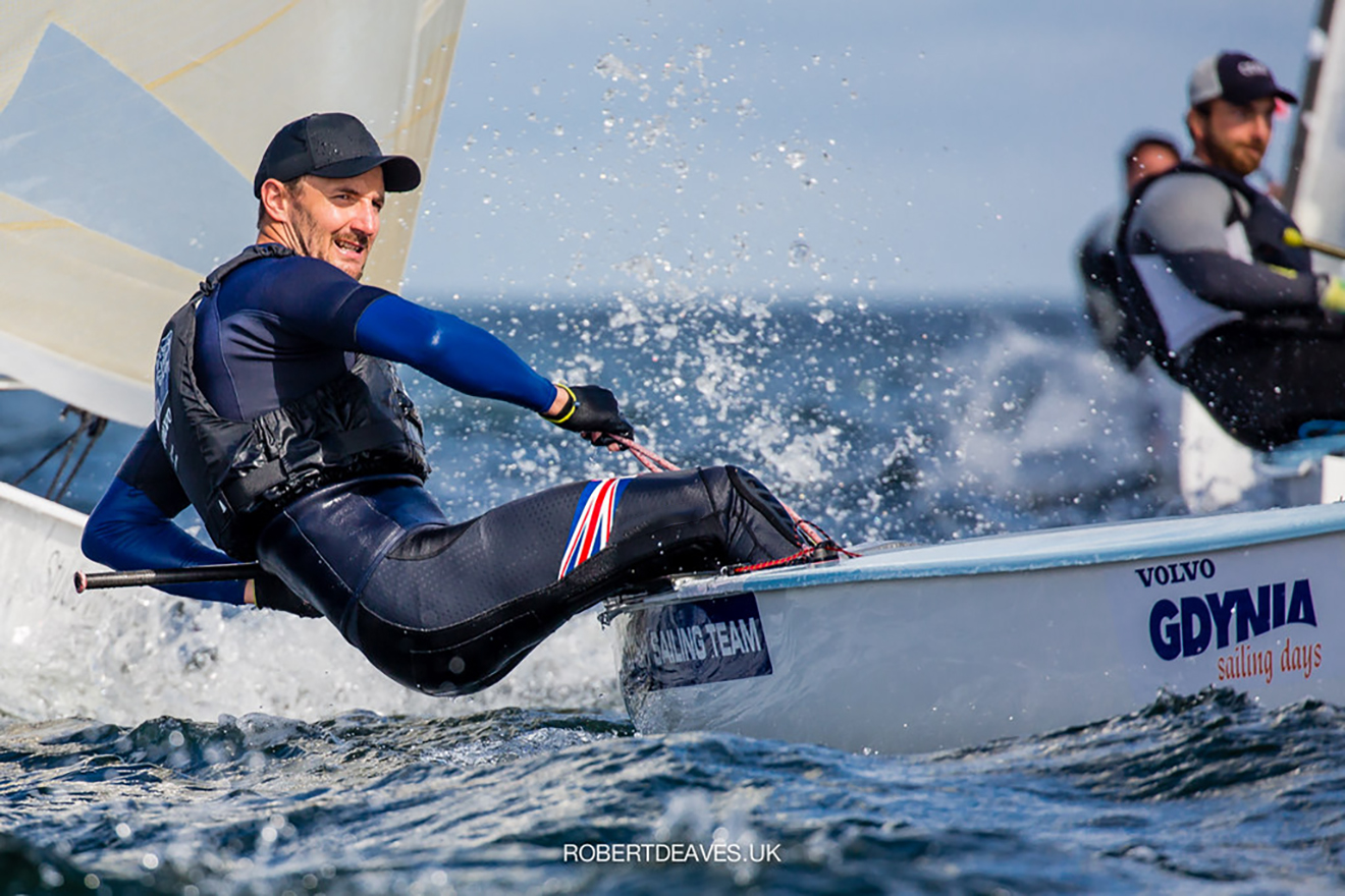 Giles Scott in action at the 2020 European Championships.